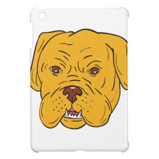 Bordeaux Dog Head Cartoon Cover For The iPad Mini