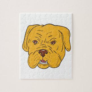 Bordeaux Dog Head Cartoon Jigsaw Puzzle