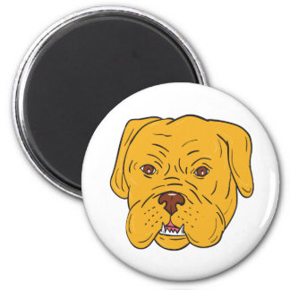 Bordeaux Dog Head Cartoon Magnet