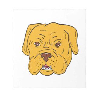Bordeaux Dog Head Cartoon Notepad