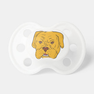 Bordeaux Dog Head Cartoon Pacifier