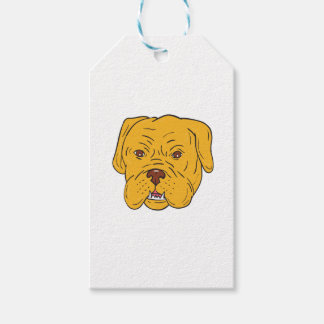 Bordeaux Dog Head Cartoon Pack Of Gift Tags