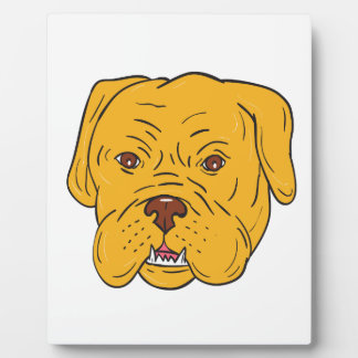 Bordeaux Dog Head Cartoon Plaque