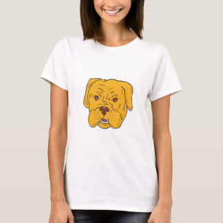 Bordeaux Dog Head Cartoon T-Shirt