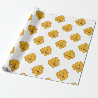 Bordeaux Dog Head Cartoon Wrapping Paper