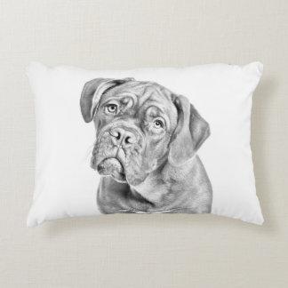 Bordeaux dogue dog portrait decorative pillow