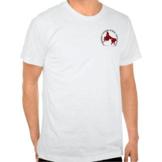 Bordeaux étroit de Cabernet CHA Blanc de T-shirt