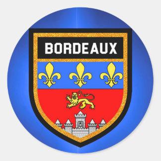 Bordeaux Flag Classic Round Sticker