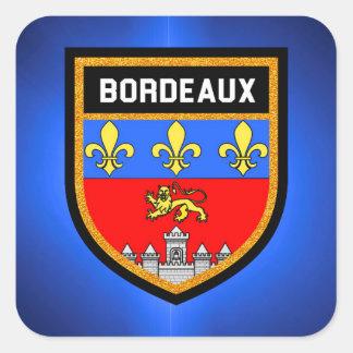Bordeaux Flag Square Sticker