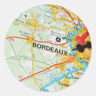 Bordeaux, France Classic Round Sticker
