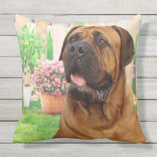 Bordeaux Mastiff Outdoor Pillow