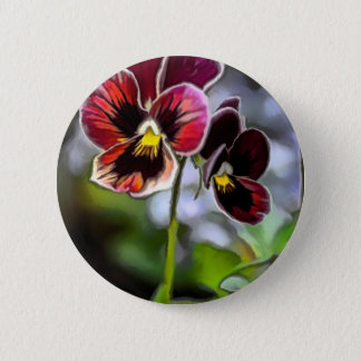 Bordeaux Pansy Flower Duo 2 Inch Round Button