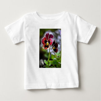 Bordeaux Pansy Flower Duo Baby T-Shirt