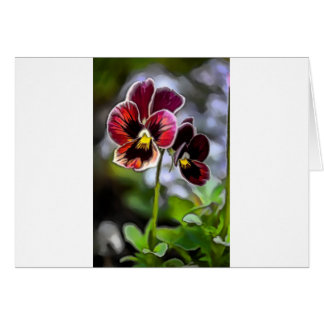 Bordeaux Pansy Flower Duo Card