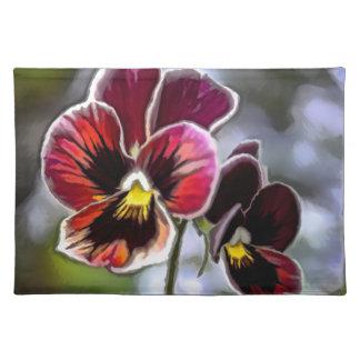 Bordeaux Pansy Flower Duo Placemat