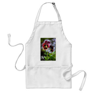 Bordeaux Pansy Flower Duo Standard Apron