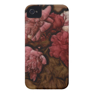 Bordeaux Peony Flower Bouquet iPhone 4 Cover