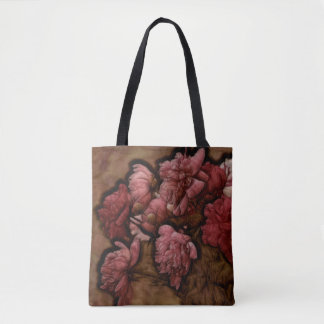 Bordeaux Peony Flower Bouquet Tote Bag