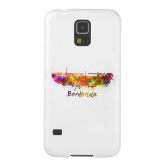 Bordeaux skyline in watercolor galaxy s5 covers