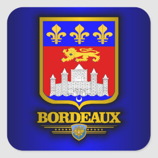 Bordeaux Square Sticker
