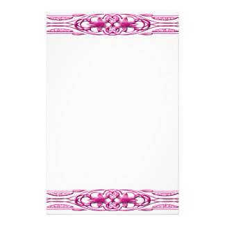 Border 1 pink customized stationery