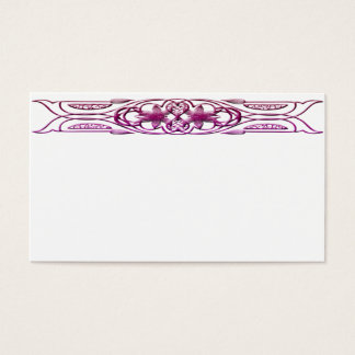 Border 1 purple business card