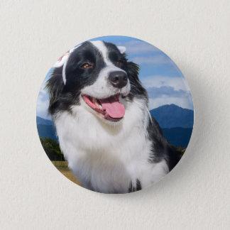 Border Collie 2 Inch Round Button
