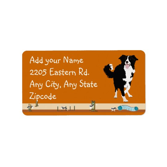 Border Collie - Agility Label