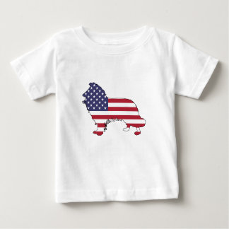 "Border collie - ""american flag"" baby T-Shirt"
