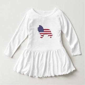 "Border collie - ""american flag"" dress"