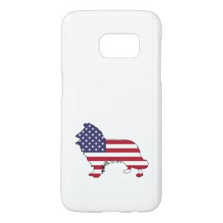 "Border collie - ""american flag"" samsung galaxy s7 case"