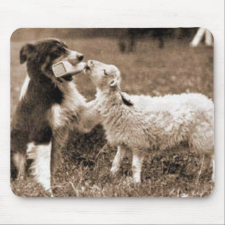 """""""Border Collie and Lamb""""~Mousepad Mouse Pad"""