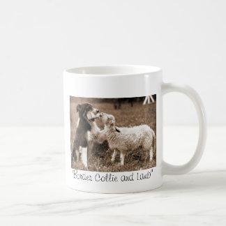 """""""Border Collie and Lamb""""~Mug Coffee Mug"""