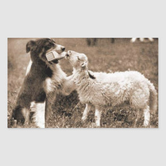 """Border Collie and Lamb""~Sticker Sticker"
