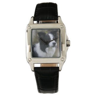 Border Collie Art Watches