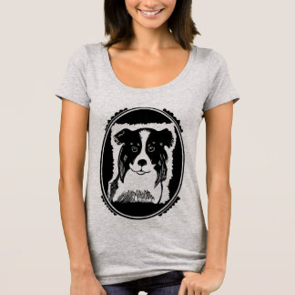 Border Collie Art Women's Scoop Neck T-Shirt