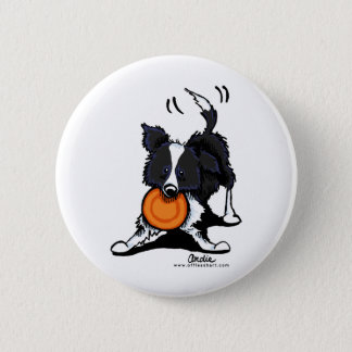 Border Collie at Play 2 Inch Round Button