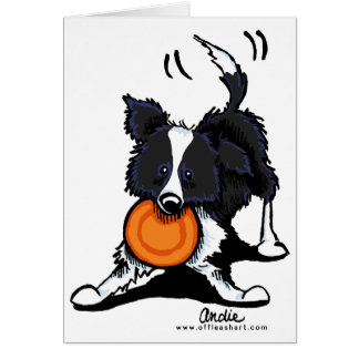 Border Collie at Play Card