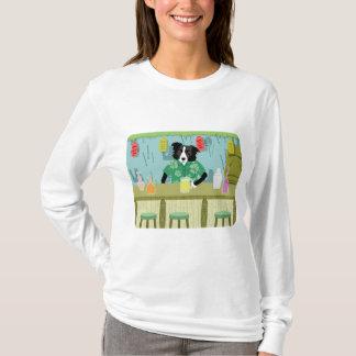 Border Collie Bamboo Tiki Bar T-Shirt