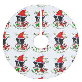 Border Collie Christmas Brushed Polyester Tree Skirt