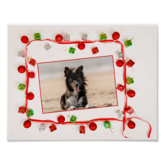 Border Collie Christmas Poster Paper (matte)