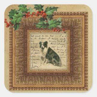 Border Collie Christmas Sticker