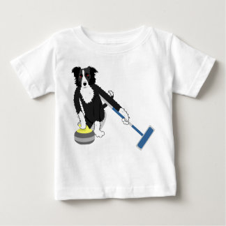 Border Collie Curling Baby T-Shirt