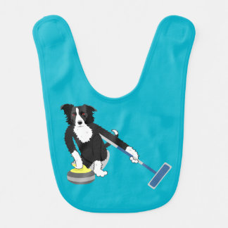 Border Collie Curling Bib