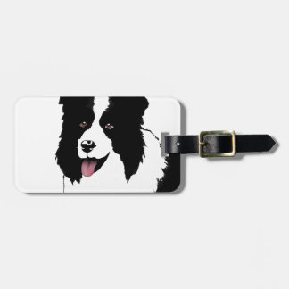 Border Collie Customize Text Background Color Luggage Tag