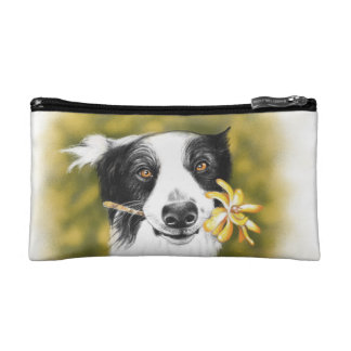 Border collie cutie cosmetic bag