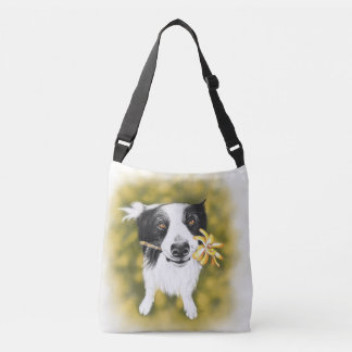 Border collie cutie crossbody bag