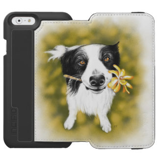 Border collie cutie incipio watson™ iPhone 6 wallet case