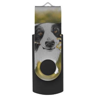 Border collie cutie USB flash drive