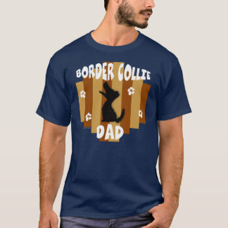 Border Collie Dad Dark Shirt